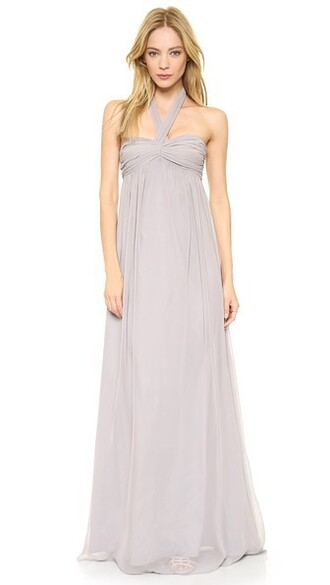 gown strapless long silver dress