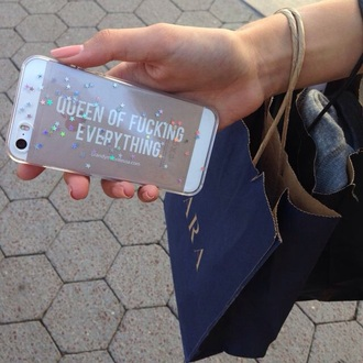 phone cover stars glitter queen iphone5 case clear