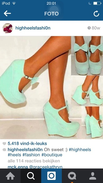 shoes highheels heels high heels cute high heels blue high heels fashion heels with bows