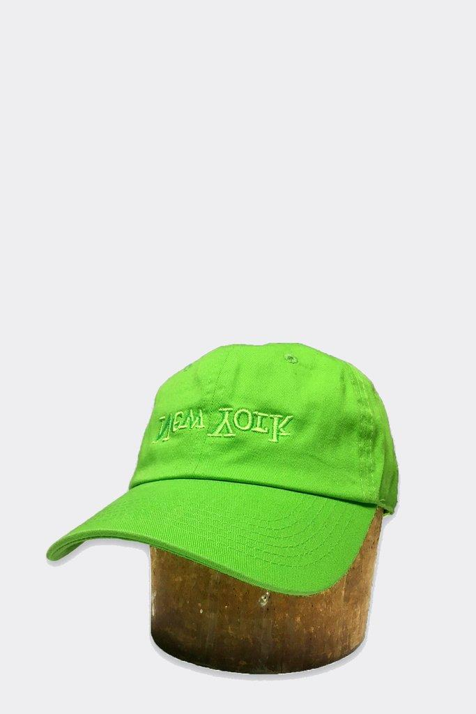 New York Embroidered Hat - Neon Green