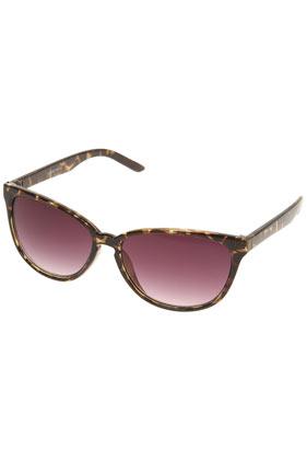 Tortoiseshell small cats eye sunglasses