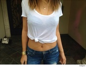 jewels,kylie jenner,white t-shirt,shirt