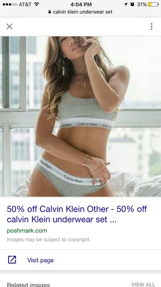 underwear grey calvin klein underwear sports bra thong