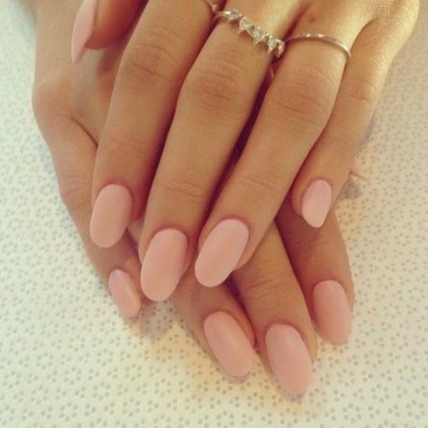 nail polish, pearl pink, light pink, matte pink, rings and tings ...