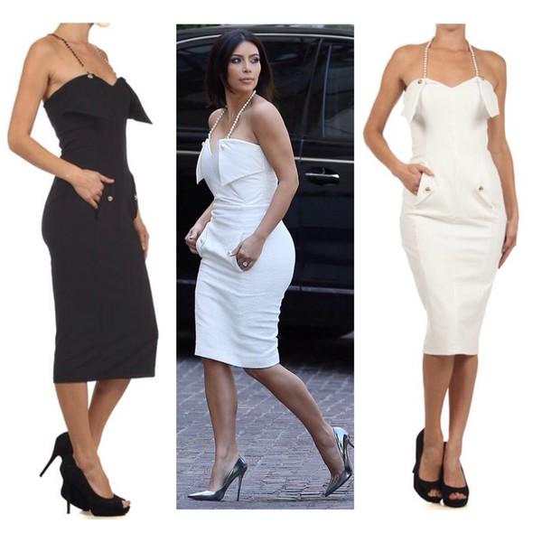 kim kardashian white dress white fashion celebrity style fall outfits