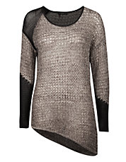 Asymmetrical interwoven sweater