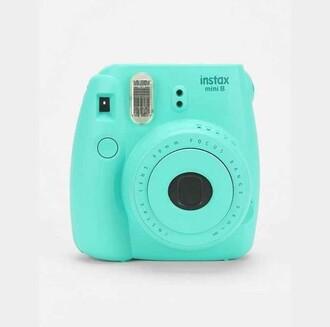 home accessory turquoise polaroid camera