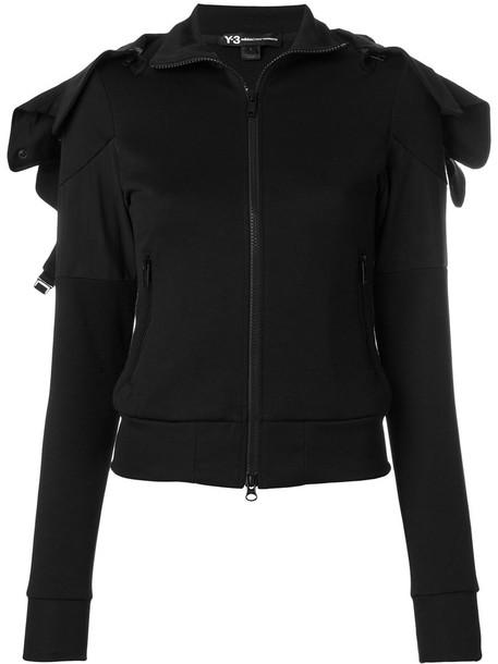 Y-3 hoodie women spandex cotton black sweater