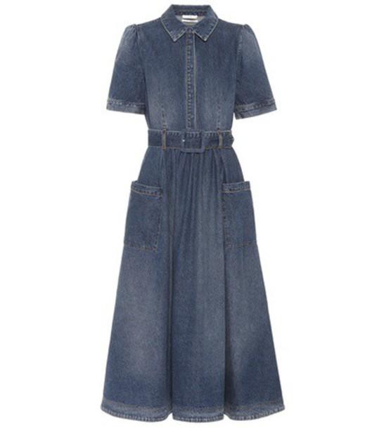 CO dress denim dress denim blue