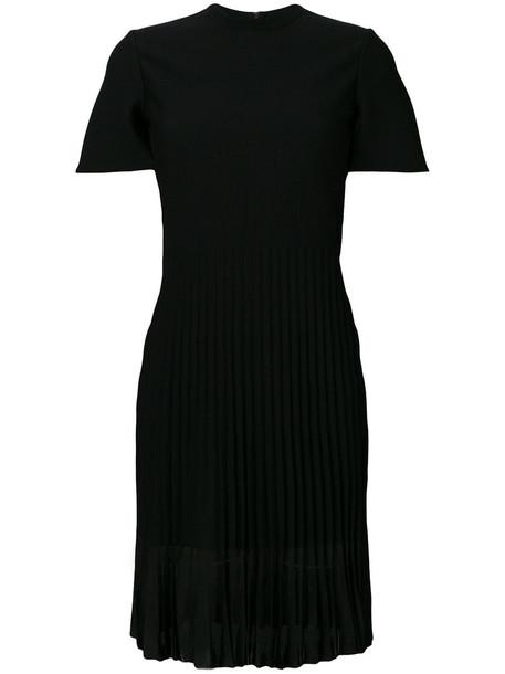 Alexander Mcqueen dress pleated dress pleated women black silk wool