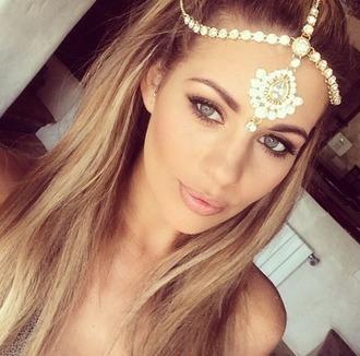 head jewels hair/makeup inspo beach wedding