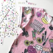 t-shirt,yeah bunny,pink,cute,girly,stickers,cactus,cacti,tumblr