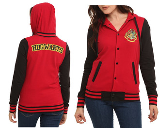 sweater hogwarts harry potter clothes baseball jacket baseball sweater