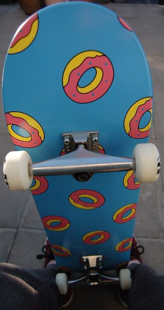home accessory skateboard donut blue pink sweet cute hype deck love