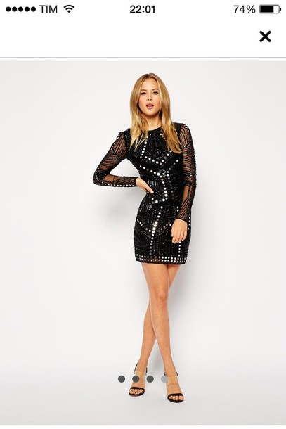 dress black dress sequin dress bodycon dress