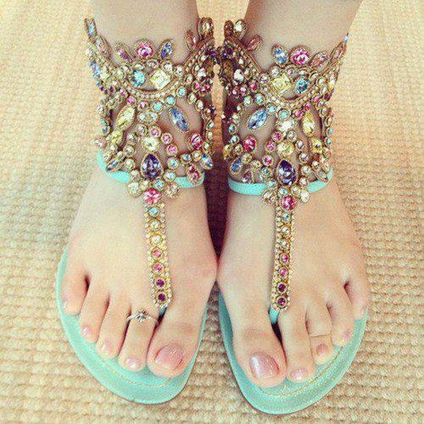 shoes sandals flat jewelry gemstone cute pastel sparkle flats summer turquoise sandals turquoise jeweled sandals dress flat sandals bling shoes jewelry teal blingy sandals jewels cute dress girly mint jewls bling sandals summer shoes kardashion fashion cute summer shoes shiny shoes mint colored jeweled thong sandalsls embellished sandals