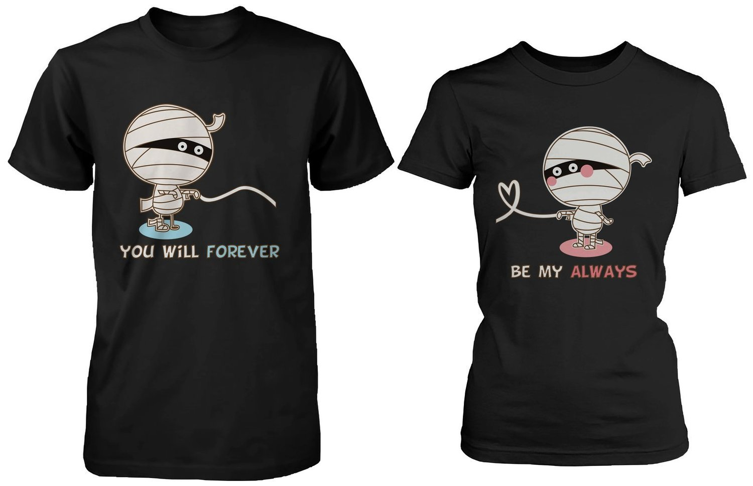 Amazon.com: Halloween Couple Shirts -Two Mummies Visit Knotts Scary Farm: Clothing