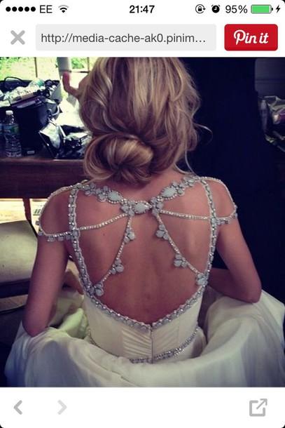 dress backless wedding dress wedding dress blue wedding accessory beaded beaded dress