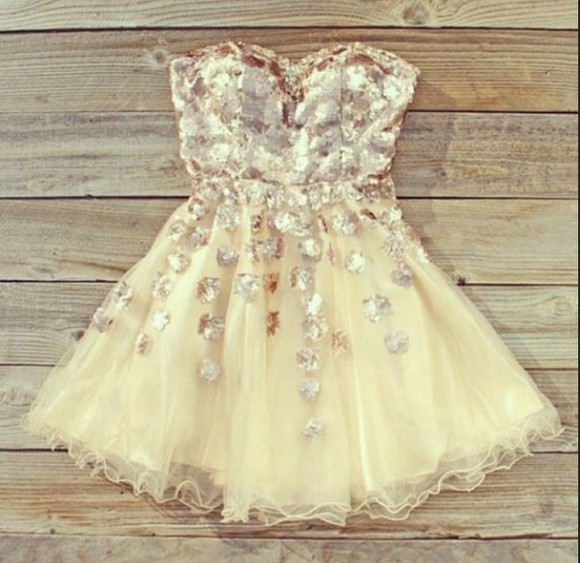 dress short dress girly tutu cream white gutter glitter prom semiformal formal cute tumblr tumblr dress 2014 short dresses 2014