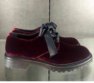 shoes oxfords velvet shoes burgundy shoes bow shoes fashion footwear bow bows suede shoes cute neat dude tumblr girl fashion vibe