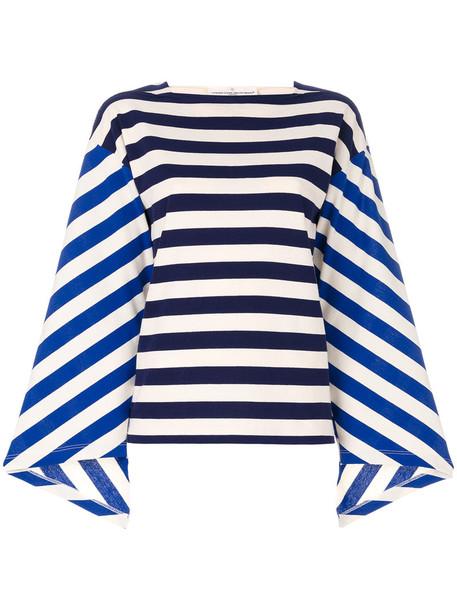 Golden Goose Deluxe Brand - striped colour-block top - women - Cotton - S, Blue, Cotton