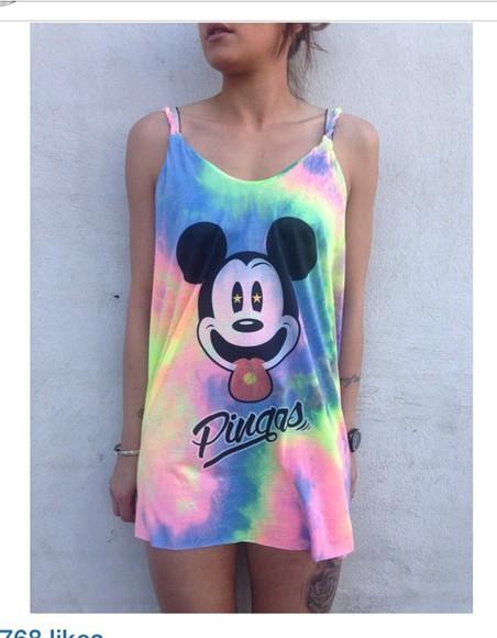 rainbow hippie grunge dress