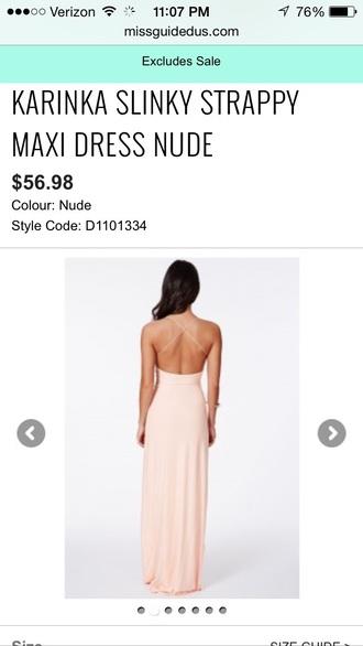 dress maxi dress nude dress straps