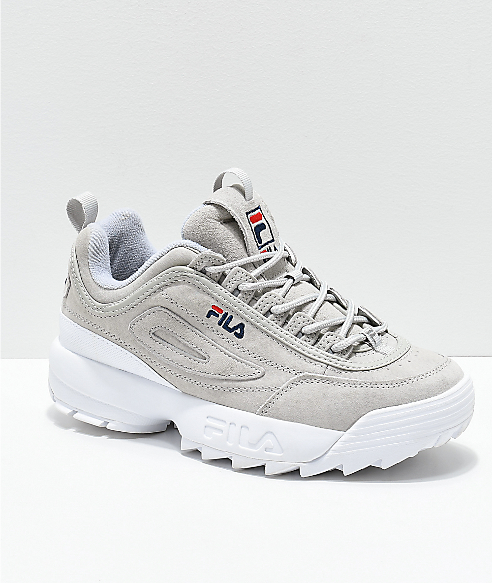 FILA Disruptor II Premium Suede Grey Shoes | Zumiez