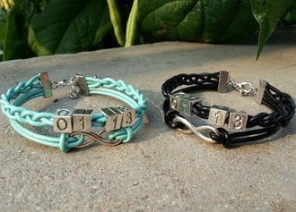 jewels matching couples blue bracelets