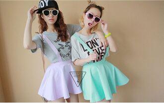 dress purple it girl shop korean style girly pastel cute swag neon kawaii korean fashion heart