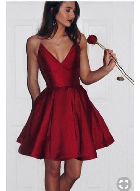dress red dress make-up homecoming dress