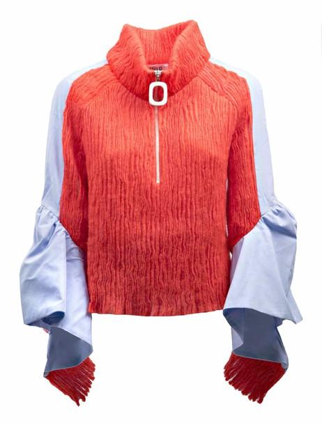AVIU sweater draped red