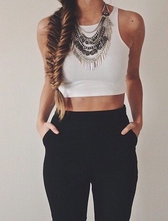 pants trouser high waisted black clothes outfit