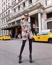 dress,floral,boots,floral dress,mini dress,long sleeves,long sleeve dress,opaque tights,tights