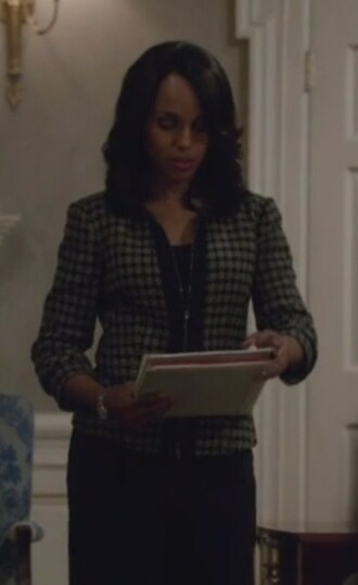 jacket check tweed olivia pope black and white zip front kerry washington scandal top