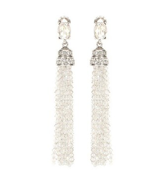 embellished earrings silver jewels