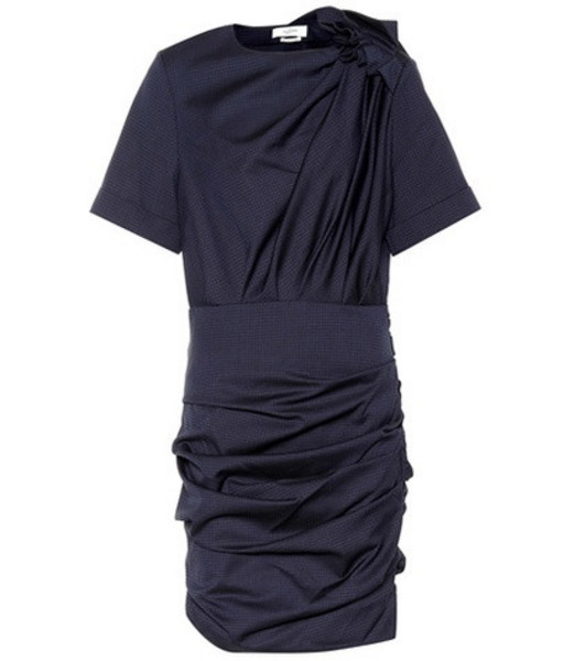 Isabel Marant, Étoile Oria checked wool dress in blue