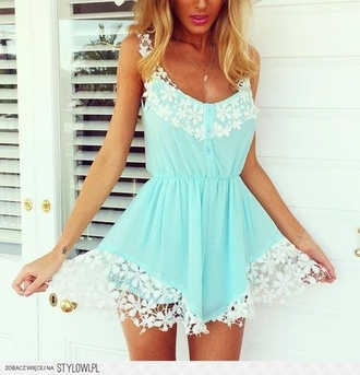 beautiful cute dress white romper blue floral jumpsuit girly pretty lace summer romp flowers women lace romper floral romper blue romper white romper romper shorts summer romper cute rompers white lace style fashion girl girly wishlist summer outfits cute  outfits cute jumpsuits cute outfits jumper jumpsuit/rompers trendy dope dope wishlist dope shit sleeveless sleeveless romper flowy comfy blonde hair jewelry jewels necklace sexy cute dress ️summer beach beach dress turquoise dress turquoise floral dress hipster tumblr light blue romper white flower lace lace dress disheefashion summer dress turquoise and white