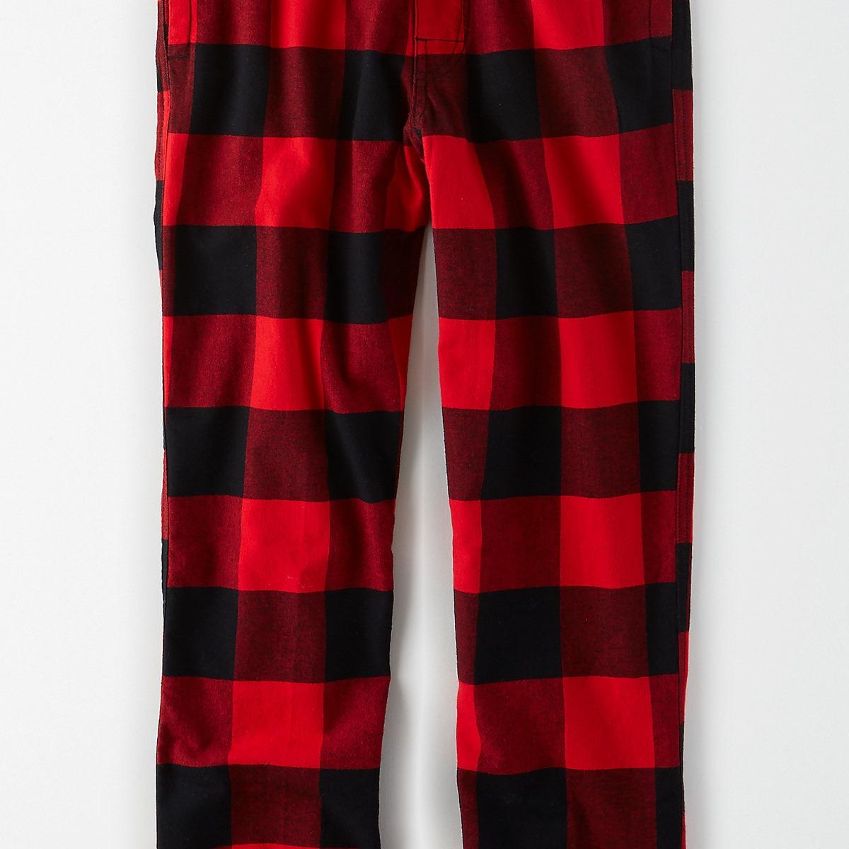 AEOO Plaid Flannel Pant