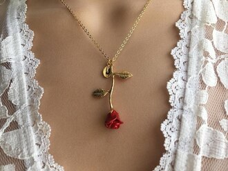 jewels rose red necklace tumblr twitter hot instagram