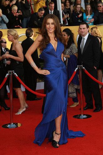 dress long blue dress sofia vergara
