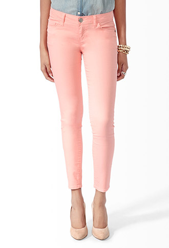 Ankle Length Denim Skinny Jeans | FOREVER21 - 2019572717