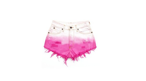 shorts white diy pink shorts