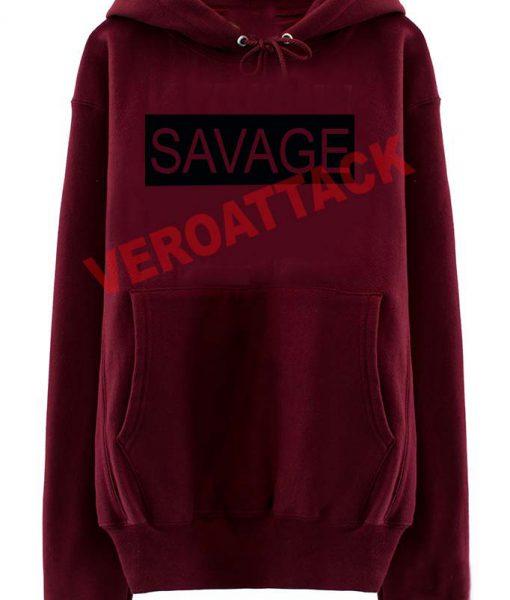 77d27718 savage newest maroon color Hoodies