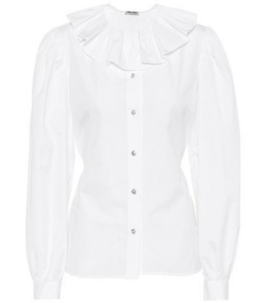 Miu Miu Cotton shirt in white