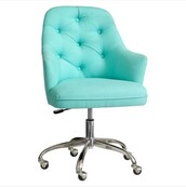 home accessory,office chair,teal,chair