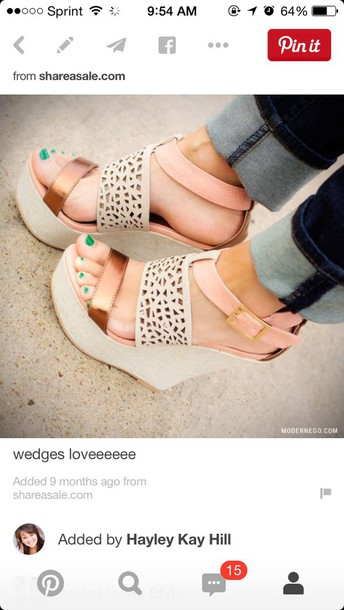 shoes colored wedges