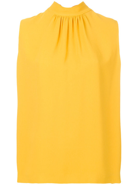 Joseph blouse sleeveless women spandex yellow orange top