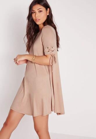 dress nude dress lace up lace up dress