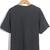 Dark Grey Short Sleeve Bicycle Letters Print T-Shirt - Sheinside.com